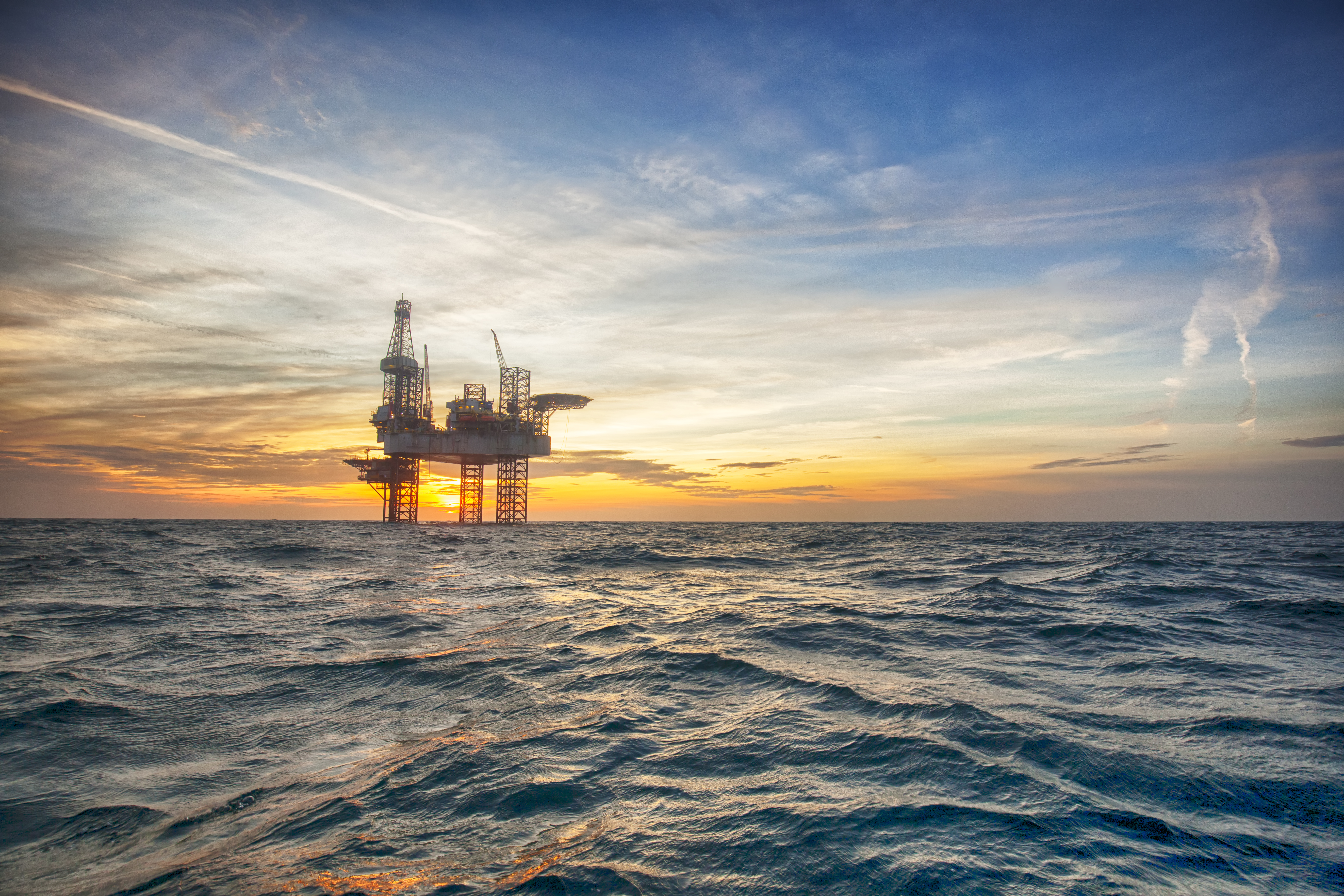 Image of an offshore drilling platform