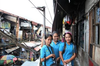 Young women in Manila, Philippines who are part of Life Project for Youth