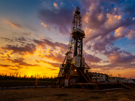 Photo of a land rig