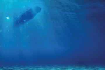 Photo of deepwater and ocean floor