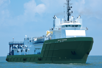 Photo of the Blue tarpon deepwater stimulation vessel