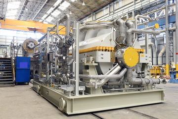 A Baker Hughes centrifugal compressor for LNG application manufactured in the Florence facility