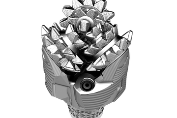 Photo of a Vanguard steel-tooth drill bit.