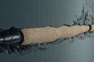 Computer rendering of the GeoFORM conformable sand management solution.