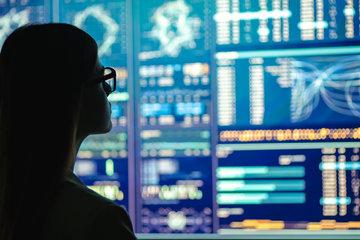 Screens displaying technology