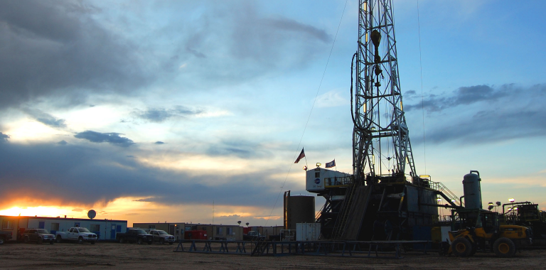 Photo of a north america land rig