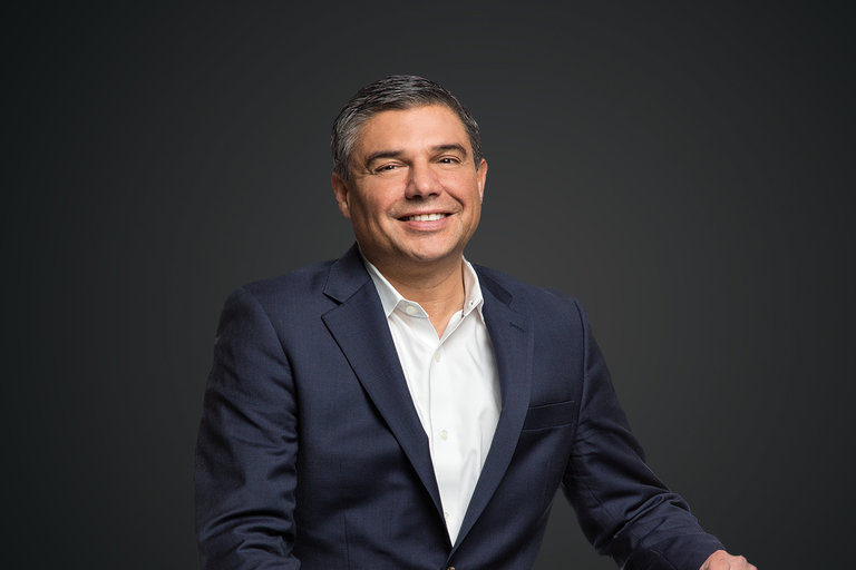 Portrait of Lorenzo Simonelli, Chairman and CEO of Baker Hughes